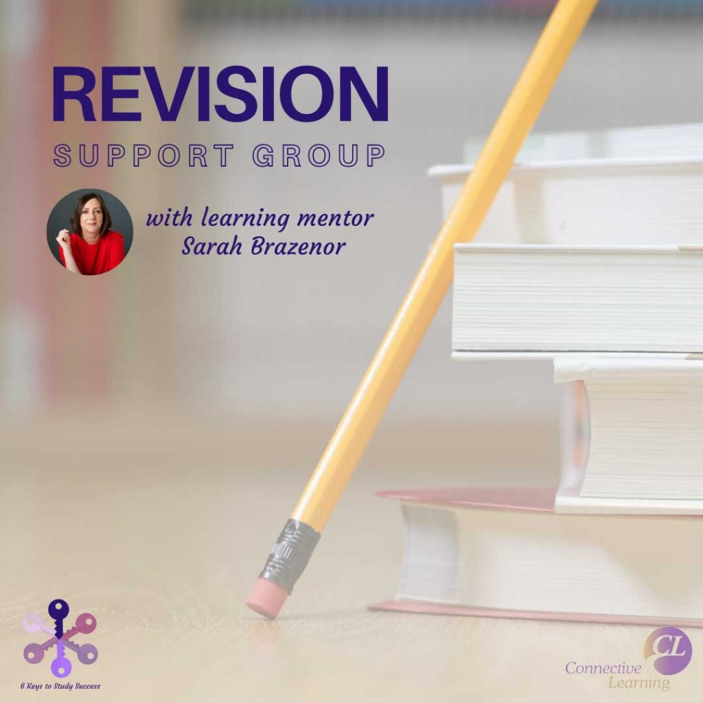 Revision Tips, Poster for Revision Support Group with Sarah Brazenor